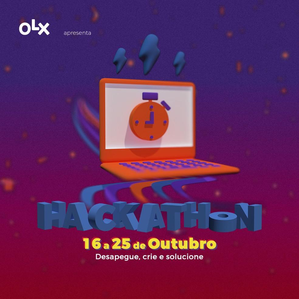 Hackathon OLX acontece entre os dias 16 a 25 de outubro e tem premiações em dinheiro para finalistas — Foto: Divulgação/Hacktudo