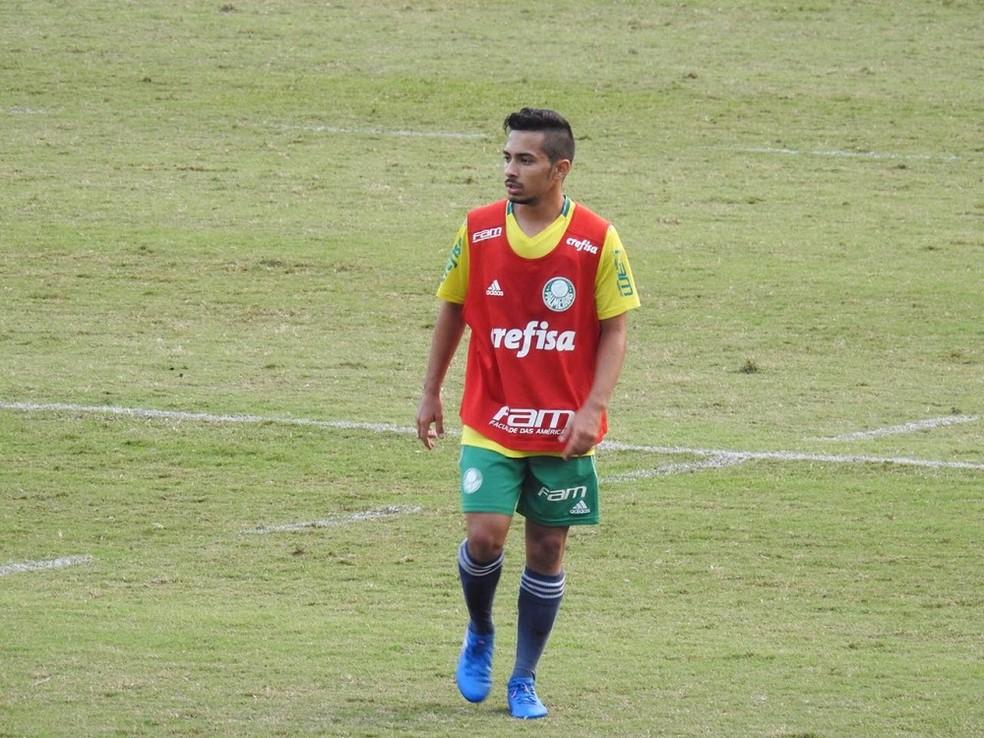 Alan, meia do Palmeiras que estaria sendo observado pelo Real — Foto: Felipe Zito
