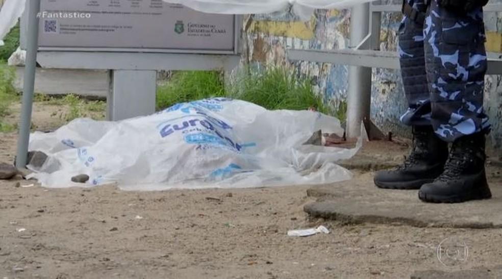 Em meio ao motim de PMs, homicídios disparam no Ceará e chegam a 147.  — Foto: Reprodução/Fantástico