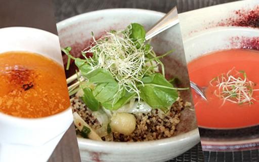 3 receitas fit: salada, gaspacho e creme
