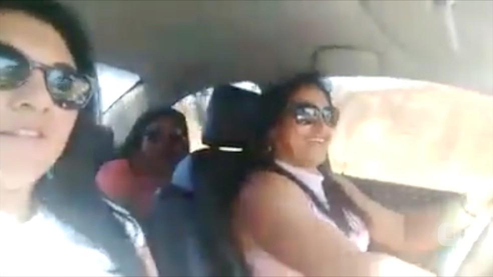 Mulheres gravam vídeo momentos antes de morrerem em acidente (Foto: Reprodução)