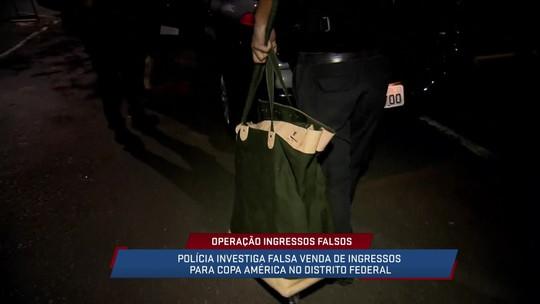 Polícia faz operação em Brasília para prender falsificadores de ingressos da Copa América