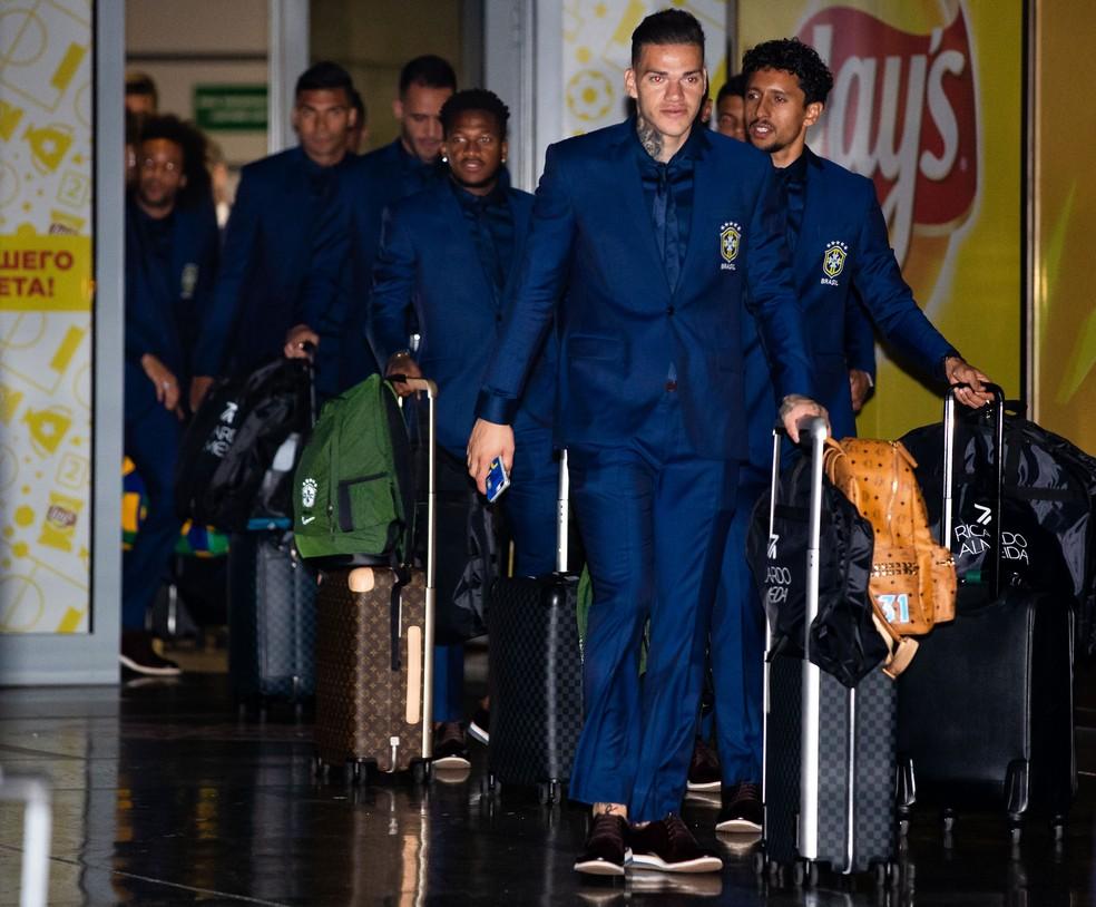 Brasil desembarca na Rússia (Foto: Getty Images)