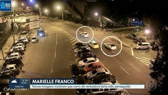 Novas imagens mostram carro de Marielle sendo seguido por 2 veículos no Centro do Rio