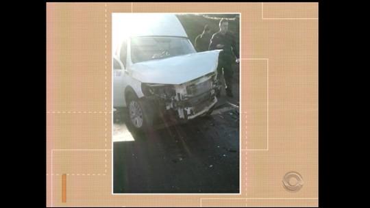 Duas pessoas ficaram feridas em acidente na RS-344 em Santa Rosa