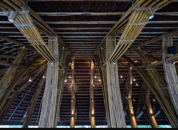 Cordas de poliéster deixam a estrutura mais firme (Foto: Bambubuild)