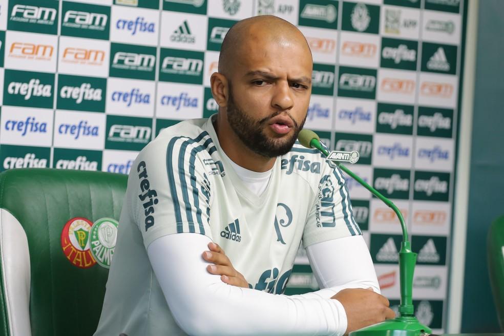 Felipe Melo concedeu entrevista no Palmeiras na última segunda-feira (Foto: Newton Menezes/Futura Press)