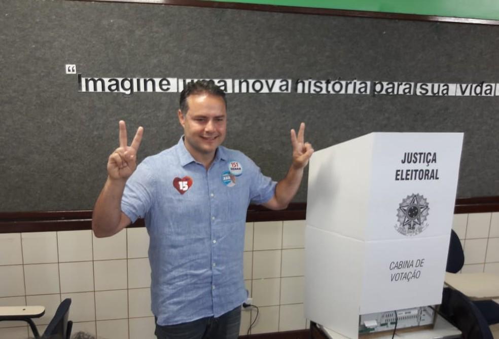 Renan Filho (MDB) é reeleito governador de Alagoas — Foto: Magda Ataíde/G1