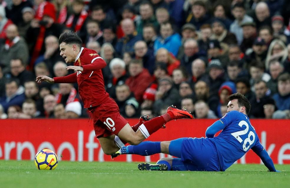 Duelo contra o Leicester pode ter sido o último de Coutinho pelo Liverpool (Foto: Reuters)