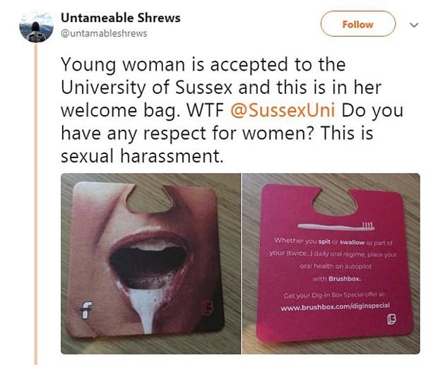 Grupo feminista Untameable Shrews denunciou o anúncio (Foto: Reprodução / Twitter)