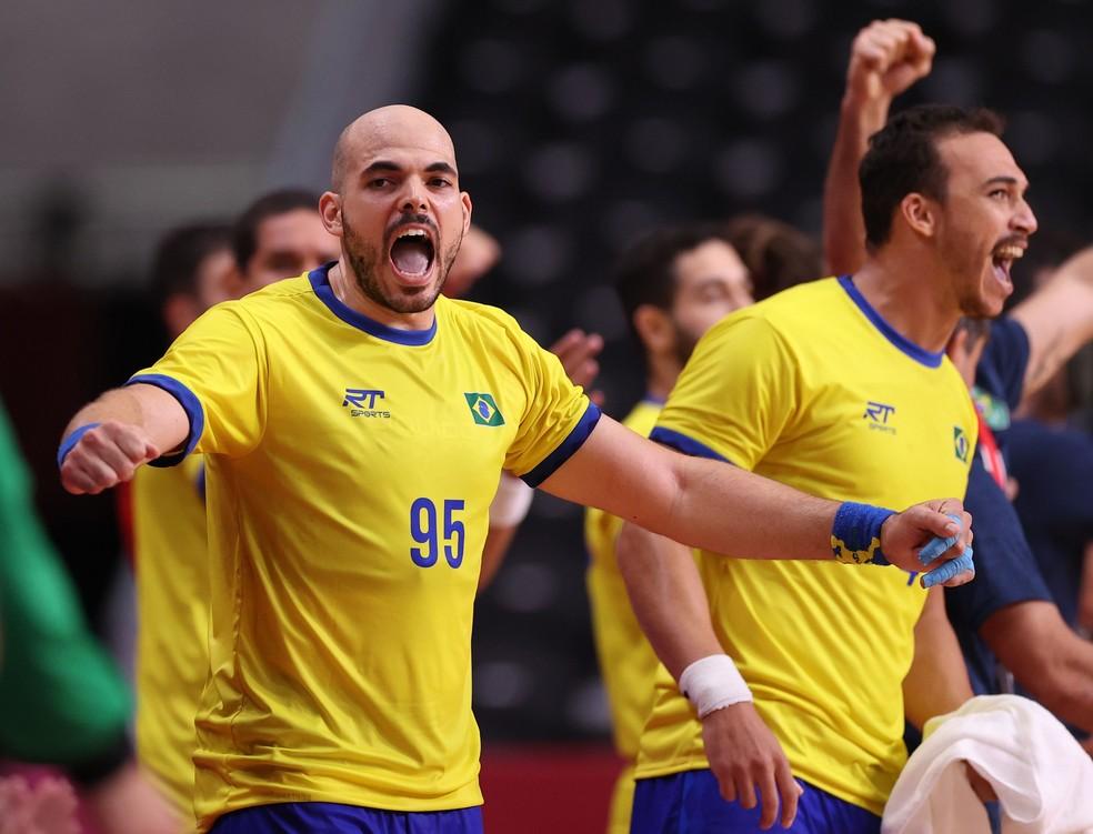 Brasil x Argentina handebol Tóquio 2020 — Foto: Reuters