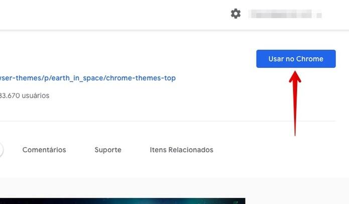 Instalando tema no Chrome (Foto: Reprodução/Helito Bijora)