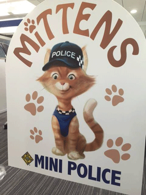 Mittens na versão cartum (Foto: Durham Constabulary/Facebook)