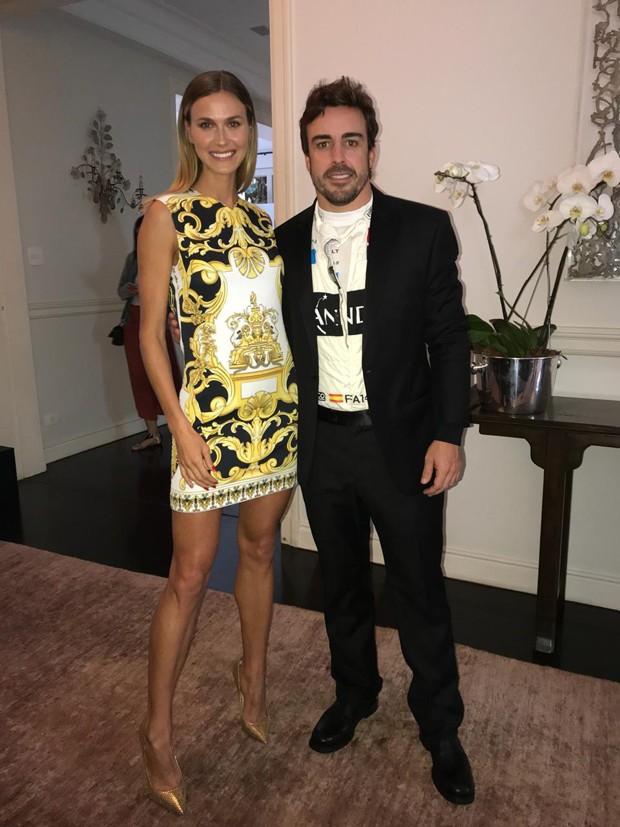 Renata Kuerten e Fernando Alonso (Foto: Divulgação)