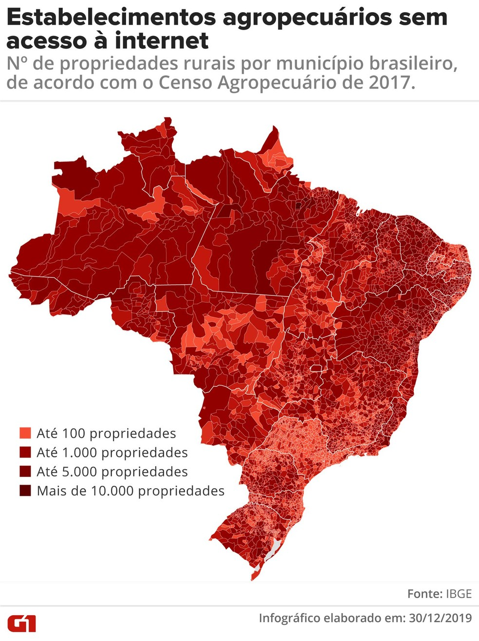 Estabelecimentos agropecuários sem acesso à internet — Foto: Rodrigo Sanches/G1