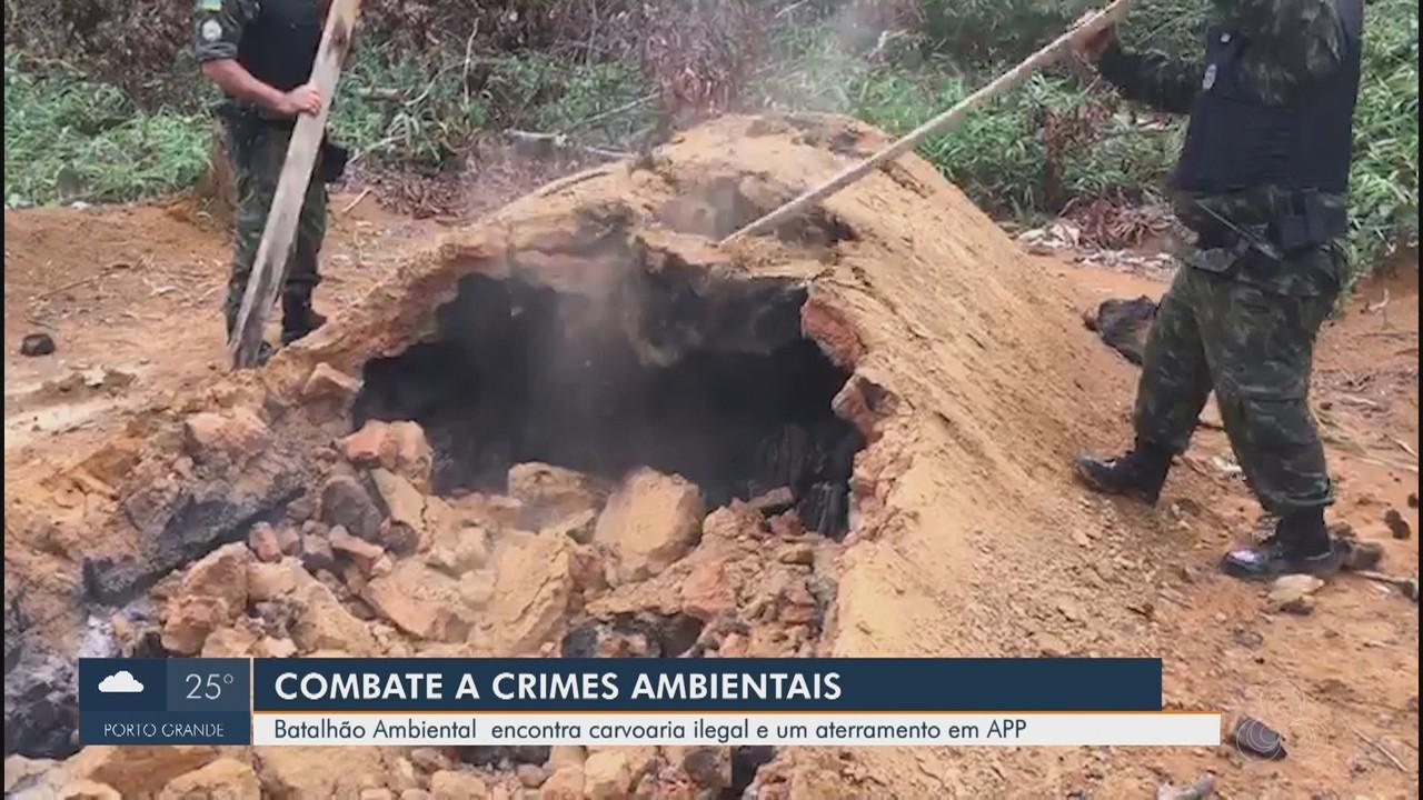 Produção ilegal de carvão e desmobilizada em Mazagão pelo Batalhão Ambiental