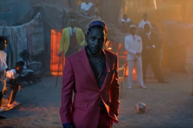 """Kendrick Lamar no clipe de """"All The Stars"""", música da trilha de """"Pantera Negra"""" (Foto: reprodução)"""