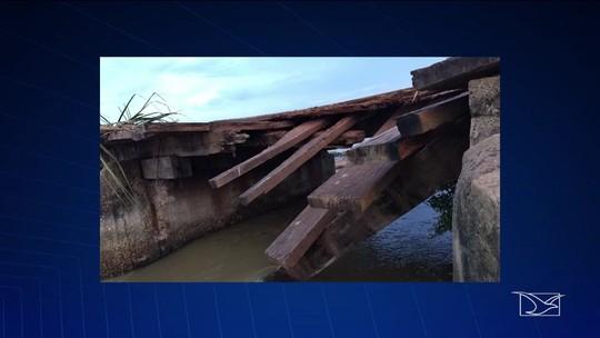Ponte sofre pela falta de infraestrutura na MA-310