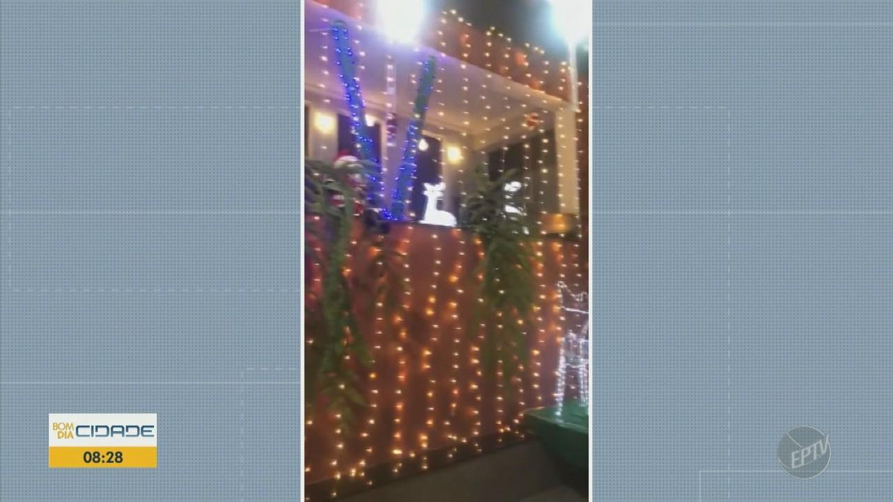 Telespectadores enviam vídeos de decorações de Natal
