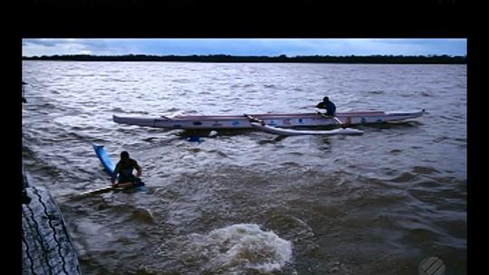 Canoistas enfrentam tempestade durante viagem da 'Expedição Pará'
