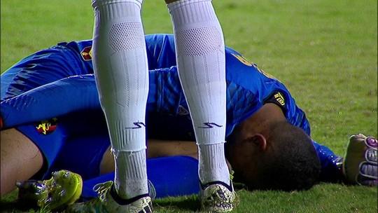Goleiro Mailson machuca joelho e não joga mais pelo Sport em 2019