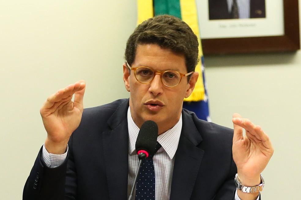 O ministro do Meio Ambiente, Ricardo Salles, em foto de arquivo — Foto: José Cruz/Agência Brasil