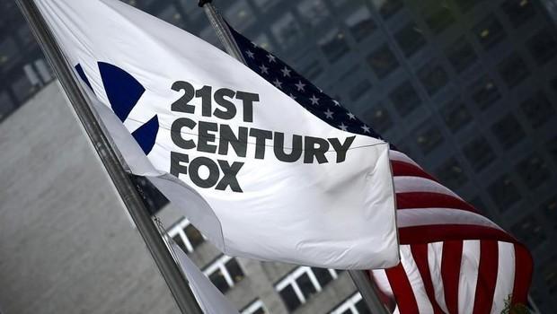 A bandeira da 21st Century Fox é vista na sede da empresa em Nova York  (Foto: Eduardo Munoz/Arquivo/Reuters)