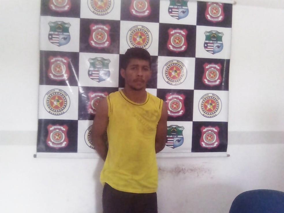 Francielson Gomes Pereira foi preso por ser suspeito de matar uma criança de nove meses no MA — Foto: Divulgação/Polícia Civil