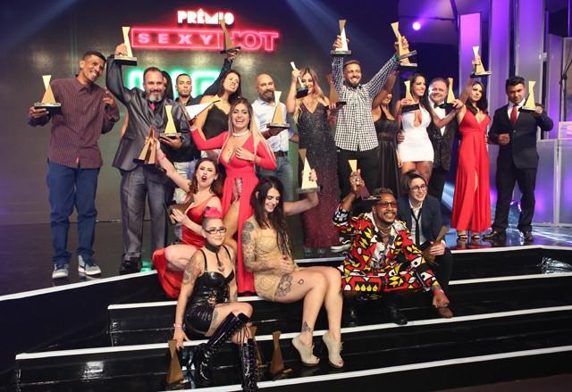 Os premiados da quinta edição do Prêmio Sexy Hot (Foto: Ricardo Cardoso)