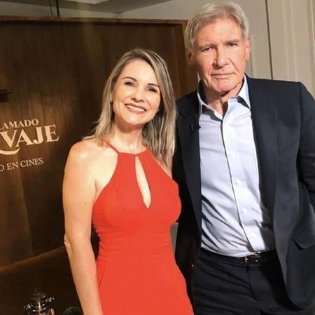Renata Boldrini e Harrison Ford  (Foto: Arquivo pessoal)
