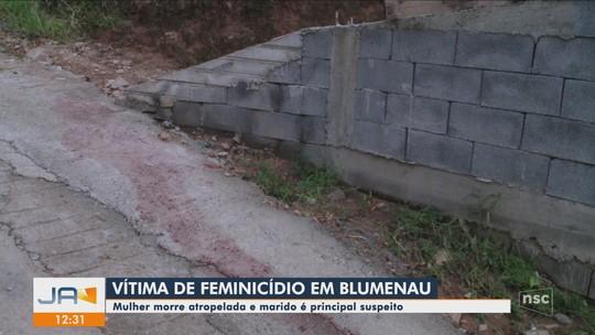 Mulher morre atropelada em Blumenau; ex-companheiro é o principal suspeito, diz polícia