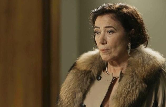 Valentina (Lilia Cabral) dirá para Gabriel (Bruno Gagliasso) que fará de tudo para se apossar da fonte, até mesmo matá-lo (Foto: TV Globo)
