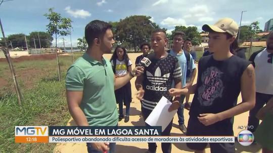 MG Móvel acompanha situação do poliesportivo de Lagoa Santa