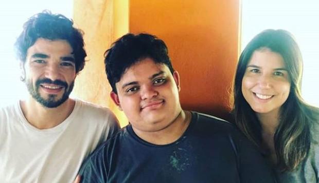 Caio Blat, Antonio e Ana Ariel (Foto: Reprodução/Instagram)
