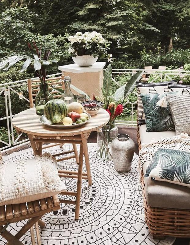 Décor do dia: varanda decorada com objetos de fibras naturais (Foto:  Westwing/Divulgação)