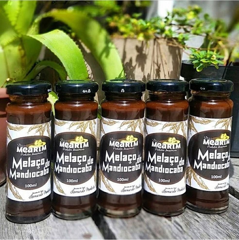 Melaço de mandiocaba produzido pelo Sítio Mearim e por Leo Modesto — Foto: Arquivo pessoal/Leo Modesto