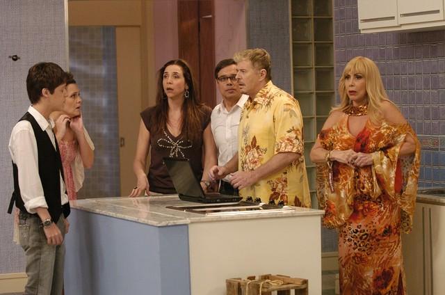 Com o elenco de 'Toma lá dá cá', em 2009: Marisa interpretava Rita no humorístico (Foto: Thiago Prado Neris)