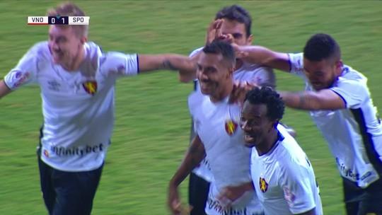 Os gols de Vila Nova 0 x 2 Sport pela 17ª rodada da Série B do Campeonato Brasileiro