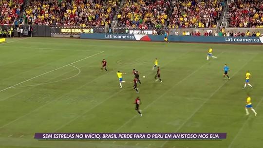 Sem estrelas como titulares, Seleção Brasileira perde para o Peru em amistoso