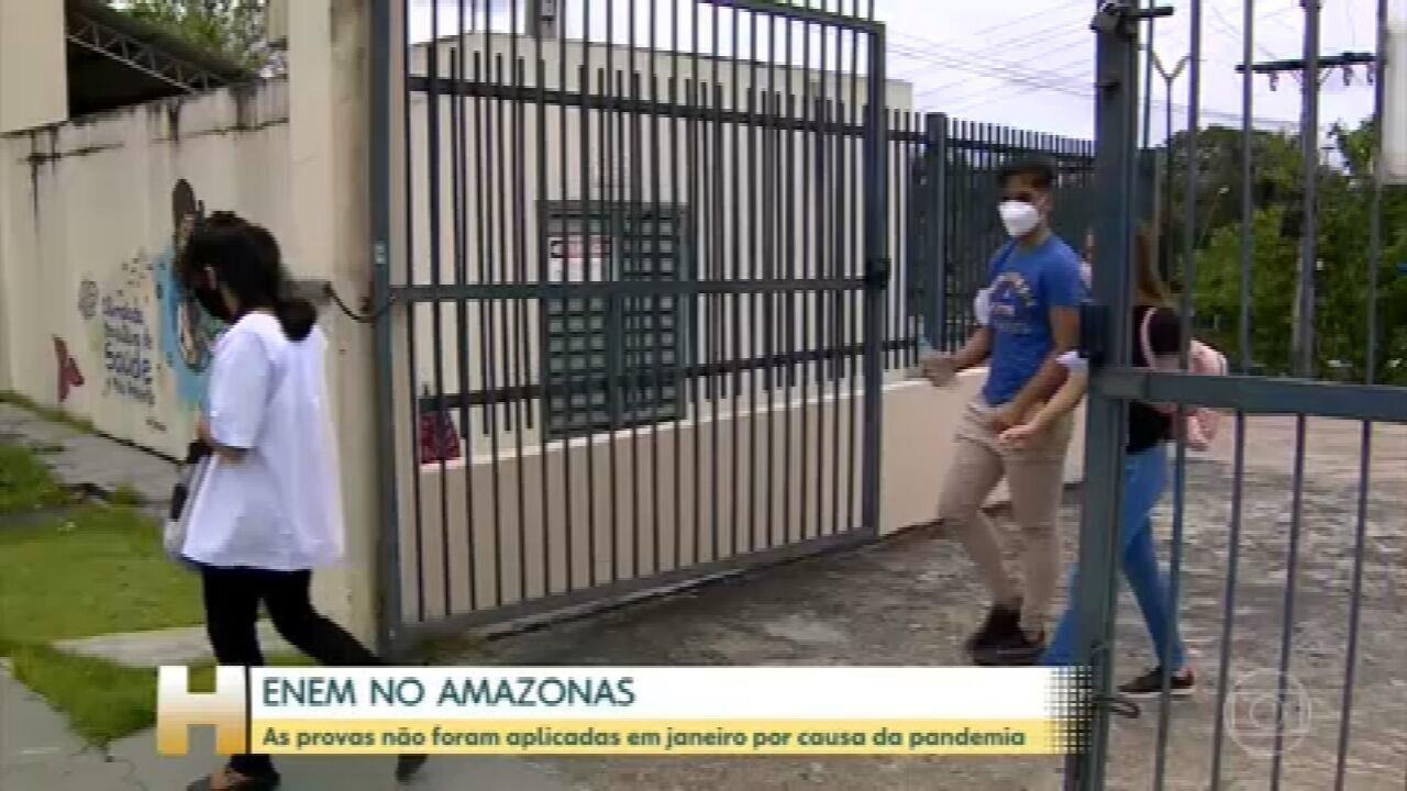 Estudantes do Amazonas fazem as provas do Enem