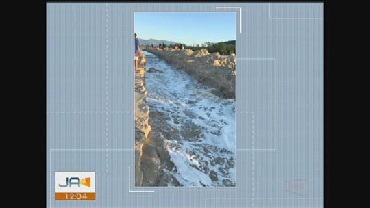 Lagoa da Praia da Barra de Ibiraquera é reaberta em Imbituba