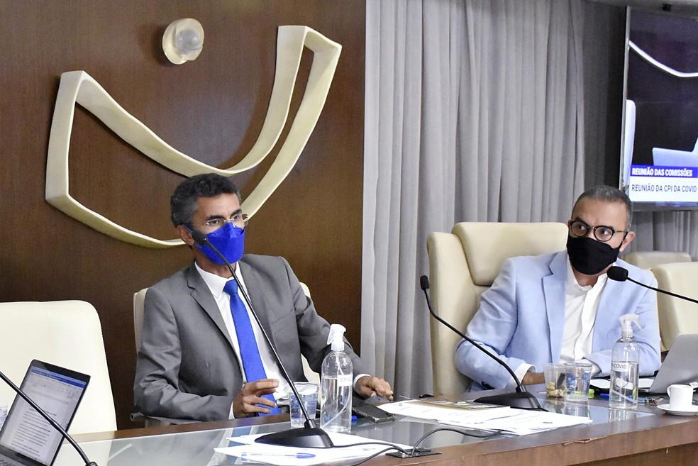 Francisco do PT e Kelps Lima, relator e presidente da CPI da Covid no RN (Arquivo) — Foto: Eduardo Maia/ALRN