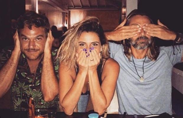 Emílio Dantas, Giovanna Antonelli e André Dias nos bastidores de Segundo Sol (Foto: Reprodução/Instagram)