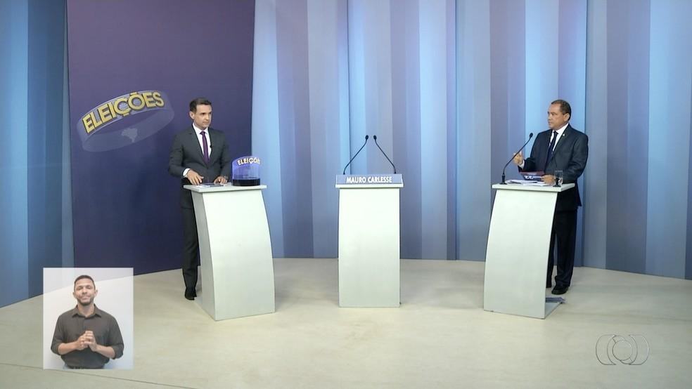 Debate segundo turno Tocantins (Foto: Reprodução/TV Anhanguera)