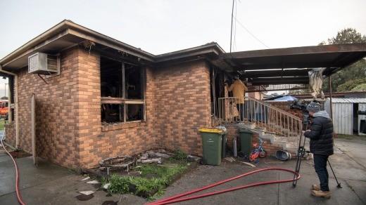 Casa da família australiana: destruída por dentro (Foto: Reprodução)