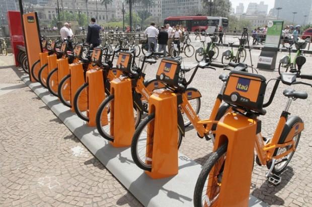 Novo sistema de compartilhamento de bicicletas em São Paulo (Foto: HELOISA BALLARINI/SECOM/Fotos Públicas)