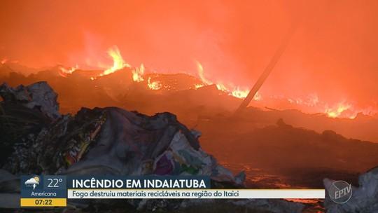 Incêndio atinge empresa de reciclagem em Indaiatuba; sem feridos