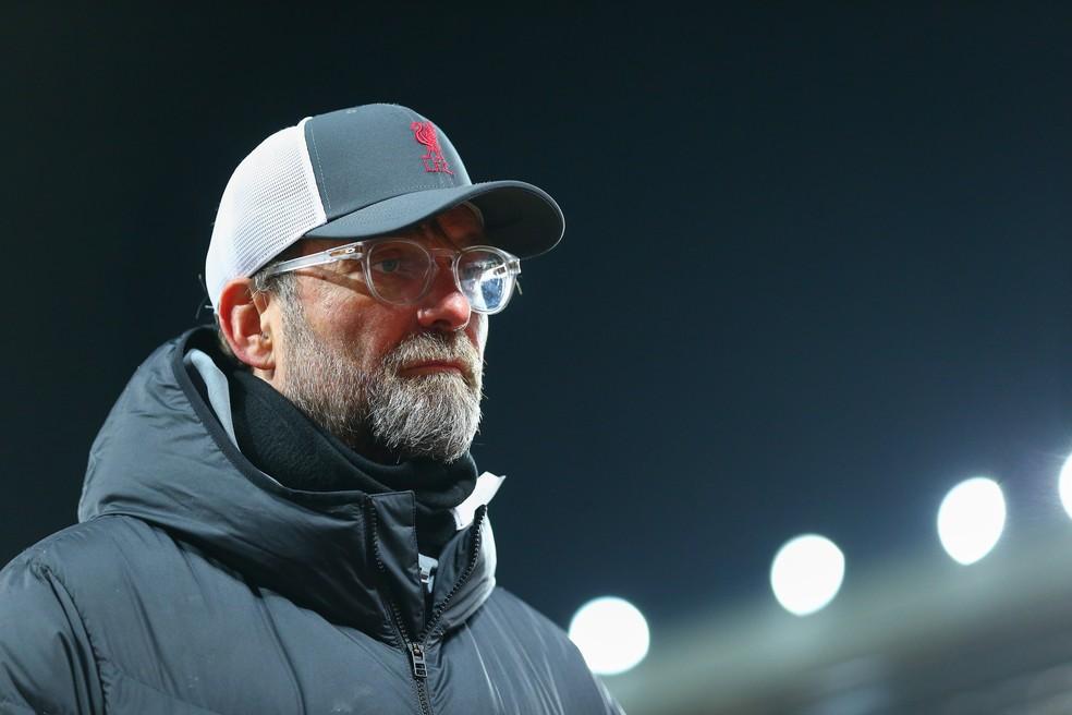 O Liverpool faz sua pior campanha na Premier League sob o comando de Jürgen Klopp  — Foto: Getty Images
