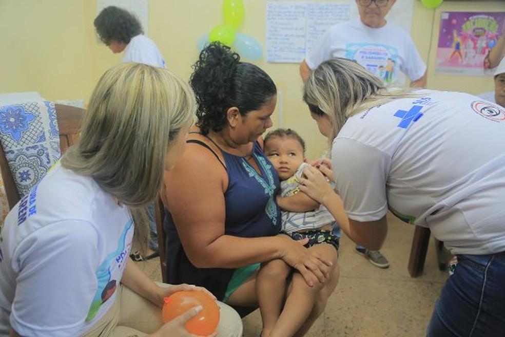 Santarém está em alerta com os casos de sarampo. A Tríplice Viral é a principal forma de prevenção contra a doença — Foto: Agência Santarém/Divulgação