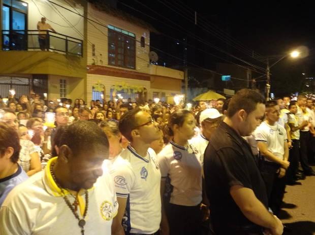 Voluntários garantem segurança durante procissão (Foto: Polícia Civil do Pará)